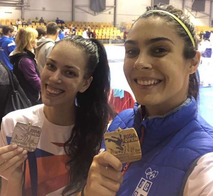 Milica i Serđa zlatne, Tijana srebrna na turniru Riga Open