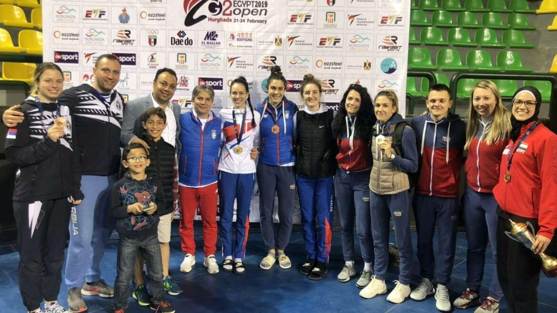 Tri medalje na Egipat Openu, Jović najbolji trener!